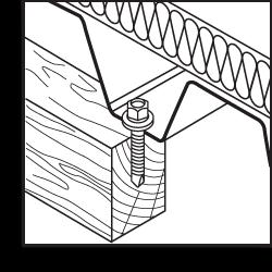 Крепление металлочерепицы и профлиста к деревянному основанию SW-T, (кровельный саморез)