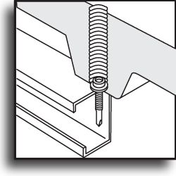 Крепеж для  кровельной ППУ-панели со спиралевидной фрезой
